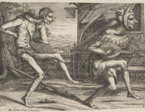 Two fools dancing Hendrik Hondius 1573-1649